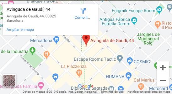 mapa restaurante gaudi